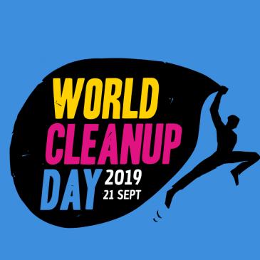 Kunst-Stoffe beim World Cleanup Day