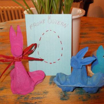 Bastelidee für Ostern: Osterhasen Upcycling