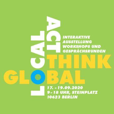 Kunst-Stoffe auf dem  'think global – act local' Strassenfest