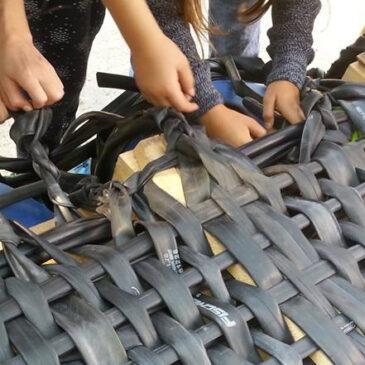 Gummi Upcycling – Werken mit Fahrradschlauch auf den World Clean Up Days